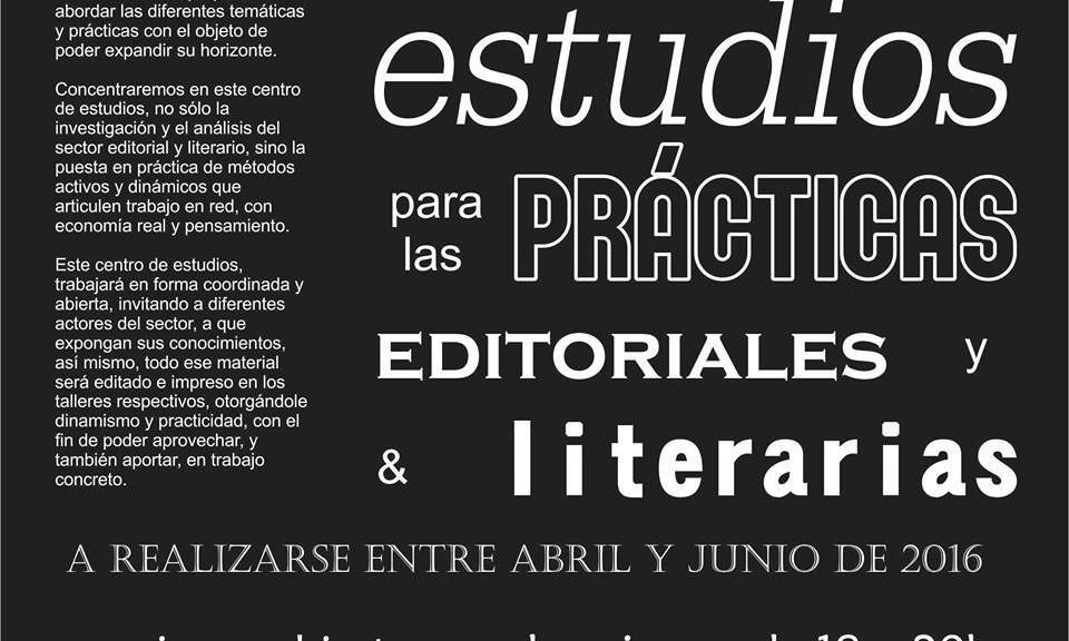 Centro de estudios para las prácticas literarias y editoriales